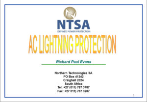 AC LIGHTNING PROTECTION PRESENTATION